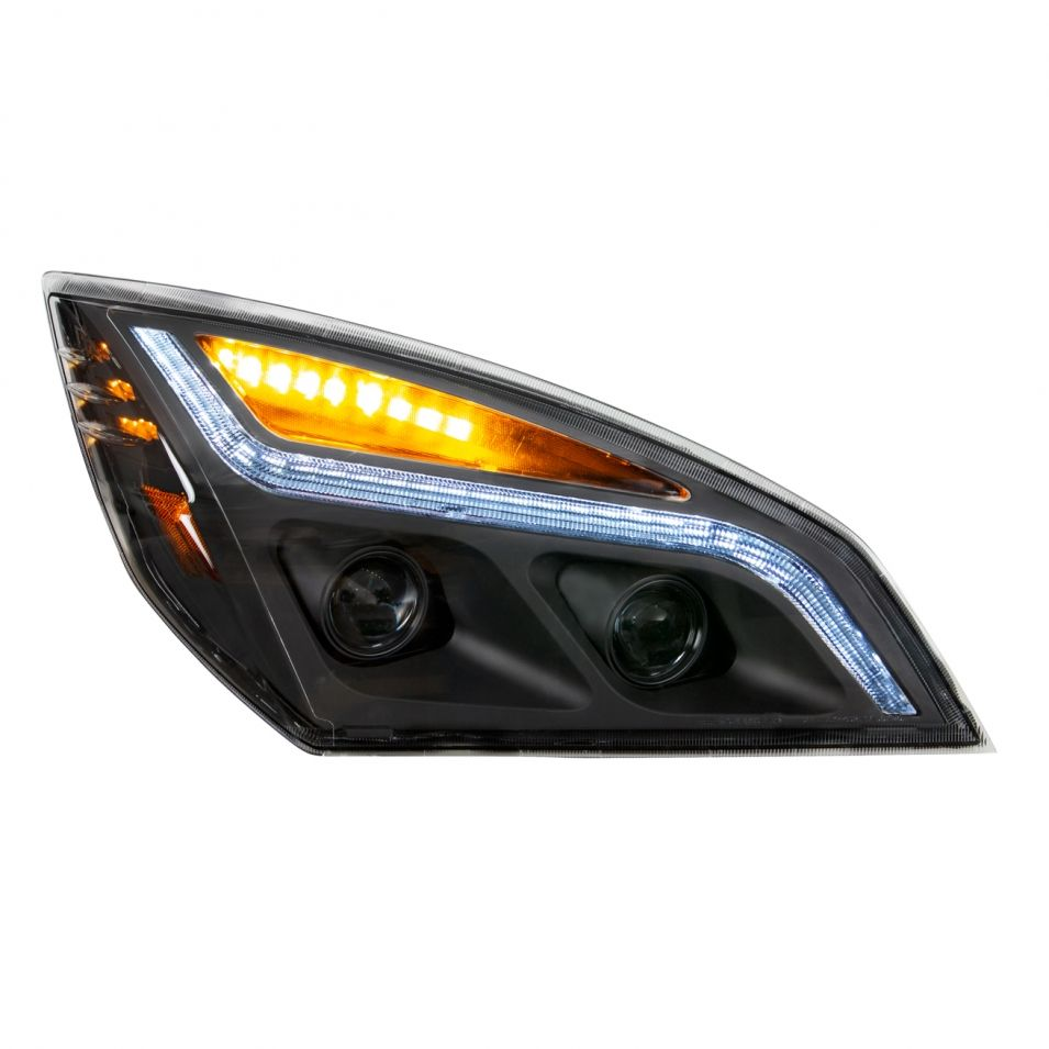 Headlights Led Projection Headlight W Led Position Light For 2018 Freightliner Cascadia Blackout Passenger In 2021 Freightliner Freightliner Cascadia Headlights