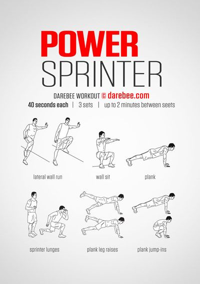Leg workout for sprinters