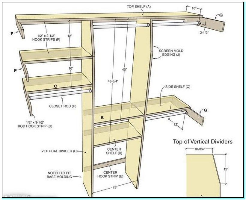 Standard Bedroom Closet Dimensions Perfect Fresh Check More At Https Cheapacticin Com 62032 Standard Bedroo Build A Closet Simple Closet Closet Shelf Designs