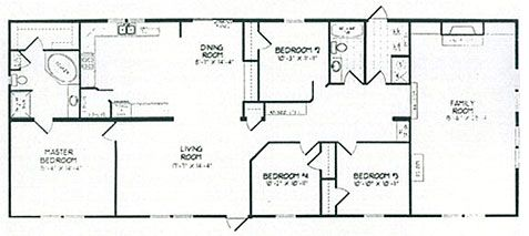 montgomeryfloorplan Mobile Home 3 and 4 bedrooms Pinterest