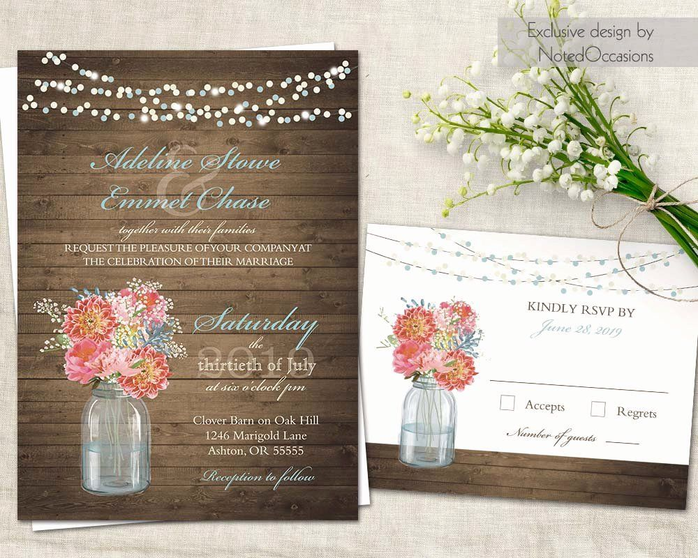 Beautiful Rustic Wedding Invitation Template Mason Jar Wedding Invitations Template Mason Jar Invitations Template Mason Jar Wedding Invitations