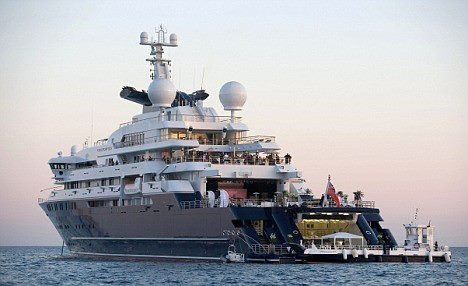 Mega Yacht Octopus Owned By Paul Allen Of Microsoft Yachts