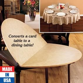 Card Table Extender Table Top Fresh Finds 100 110 48