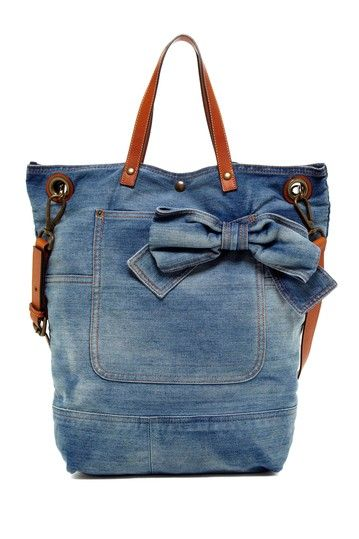 19e31ca2409 RED Valentino Denim Bow Shoulder Bag by RED Valentino Handbags on @HauteLook
