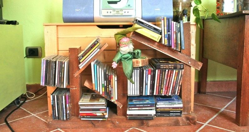 Il porta CD del Falegnomo #recycle