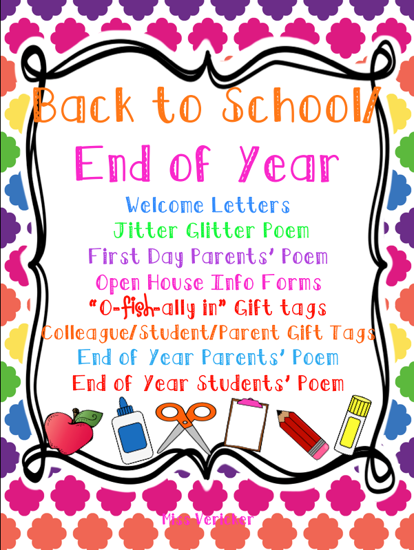 It is a graphic of Jitter Glitter Poem Printable regarding first day