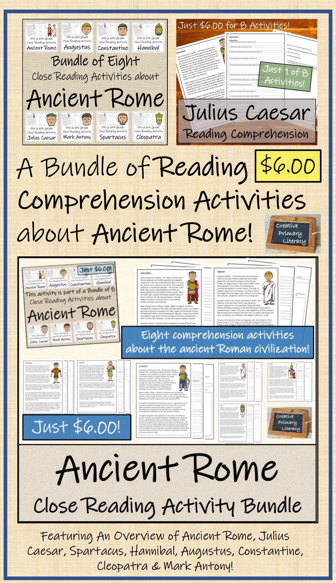 Eight Close Reading Activities About Ancient Rome
