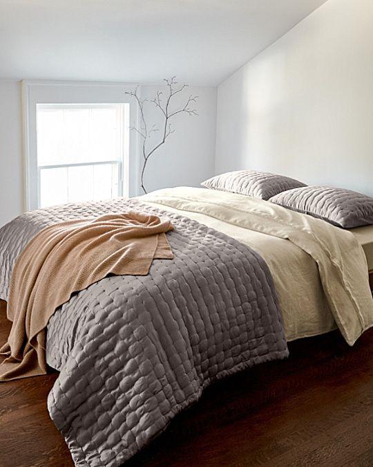 eileen fisher cushion silk quilt and sham