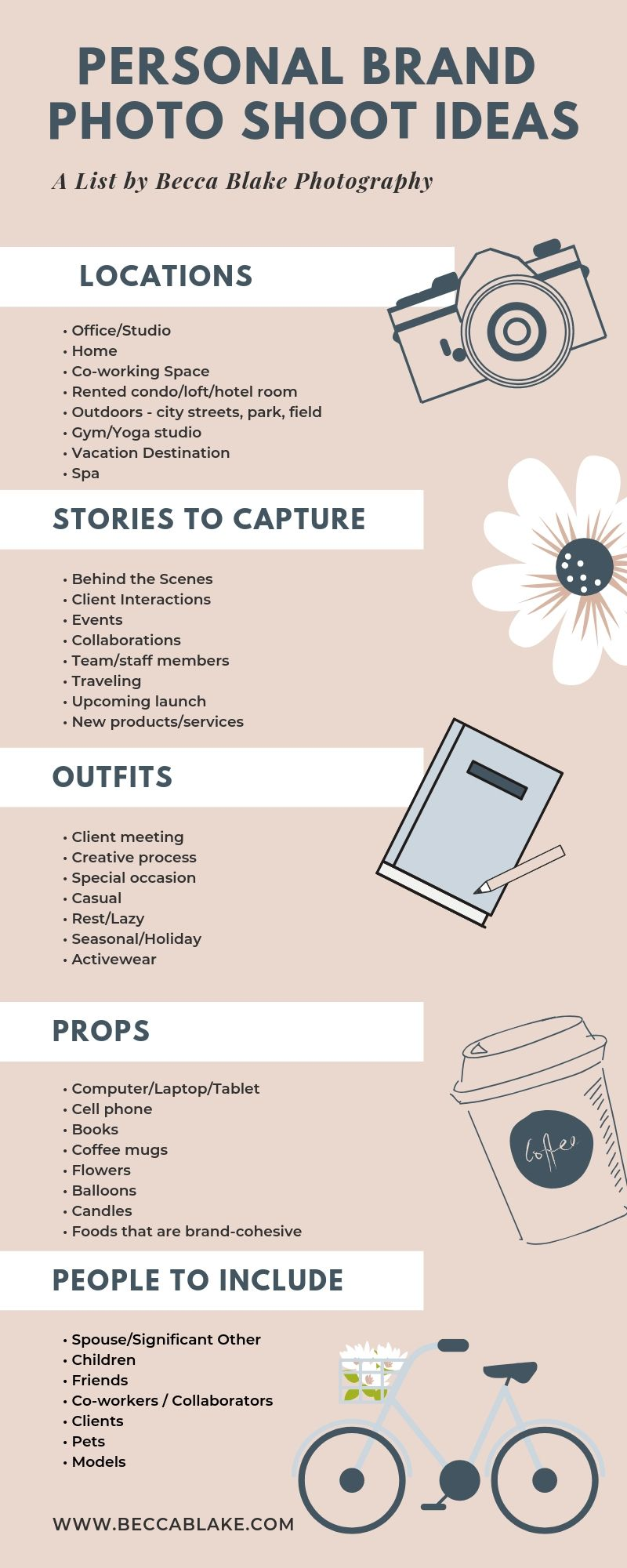 12 Ideas for Your Next Personal Brand Photo Shoot  Becca Blake