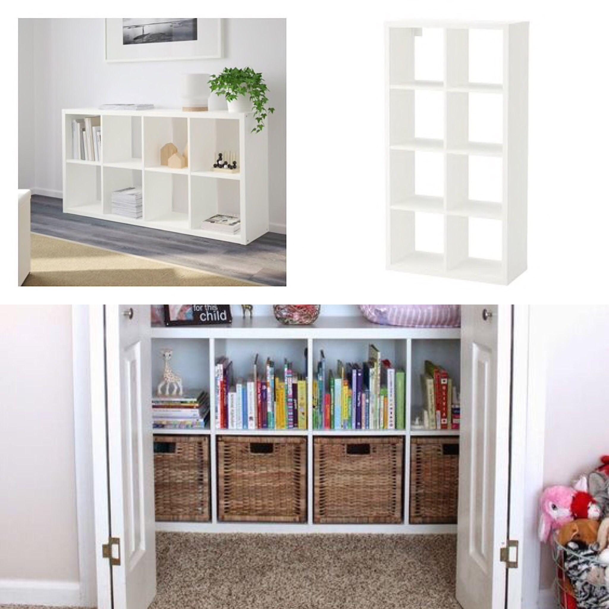 """FLYSTA Shelf unit white 27 1/8x52 """" Cubicle storage"""
