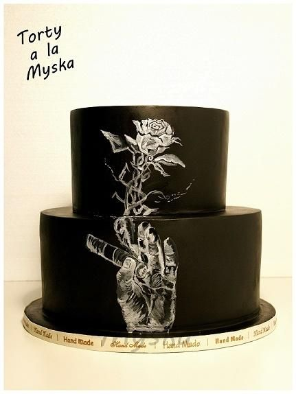 painted - Cake by Myska