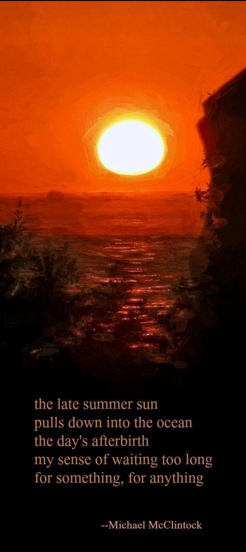 Translations Into Italian: Tanka Poem: The Late Summer Sun -- By Michael McClintock