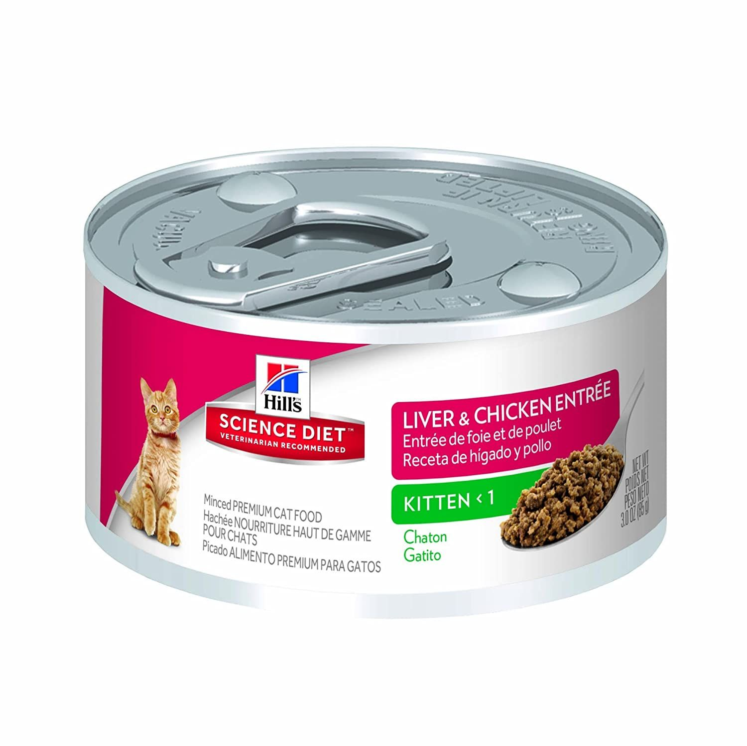 Hill S Science Diet Kitten Liver And Chicken Entree Minced Cat Food 3 Oz 24 Pack Continue To The Product At In 2020 Hills Science Diet Science Diet Canned Cat Food