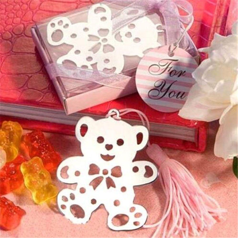 Silver Angel Bookmark Tassel Decor Christening Wedding Birthday Favor Gift