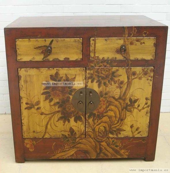 Aparador pintado a mano chino muebles chinos muebles - Muebles orientales segunda mano ...