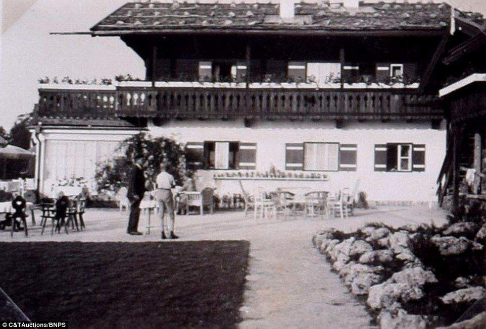The album, which also includes an image of the Berghof's garden terrace, pictured above, i...
