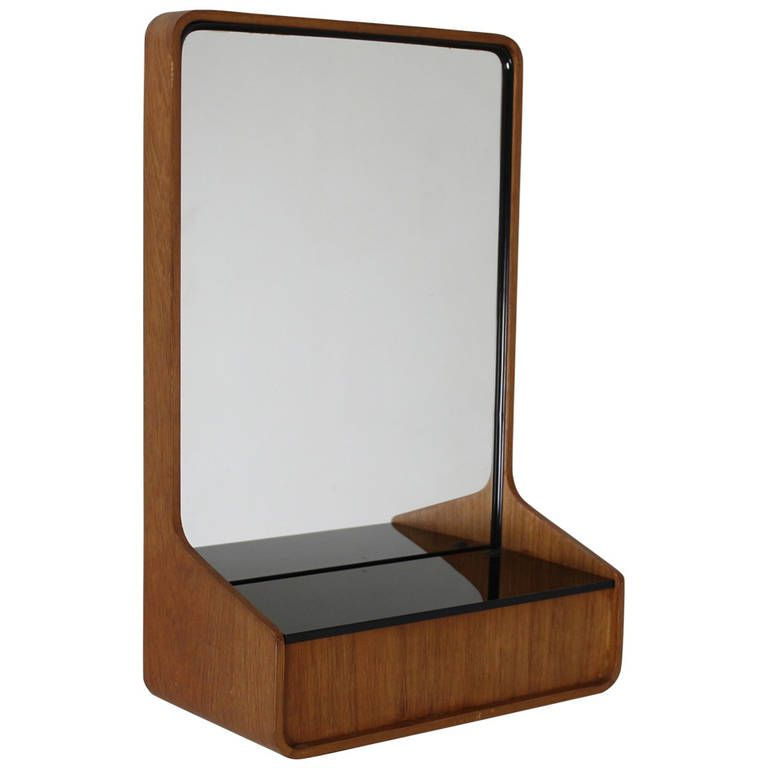 Small Wall Mirror With Storage By Friso Kramer For Auping Holland | From A  Unique Collection