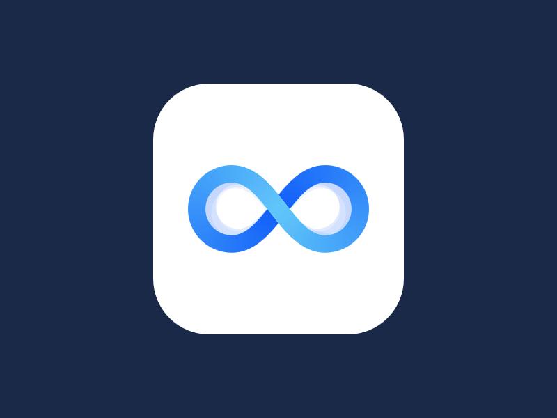 Infinite App Logo Logos Logo Design