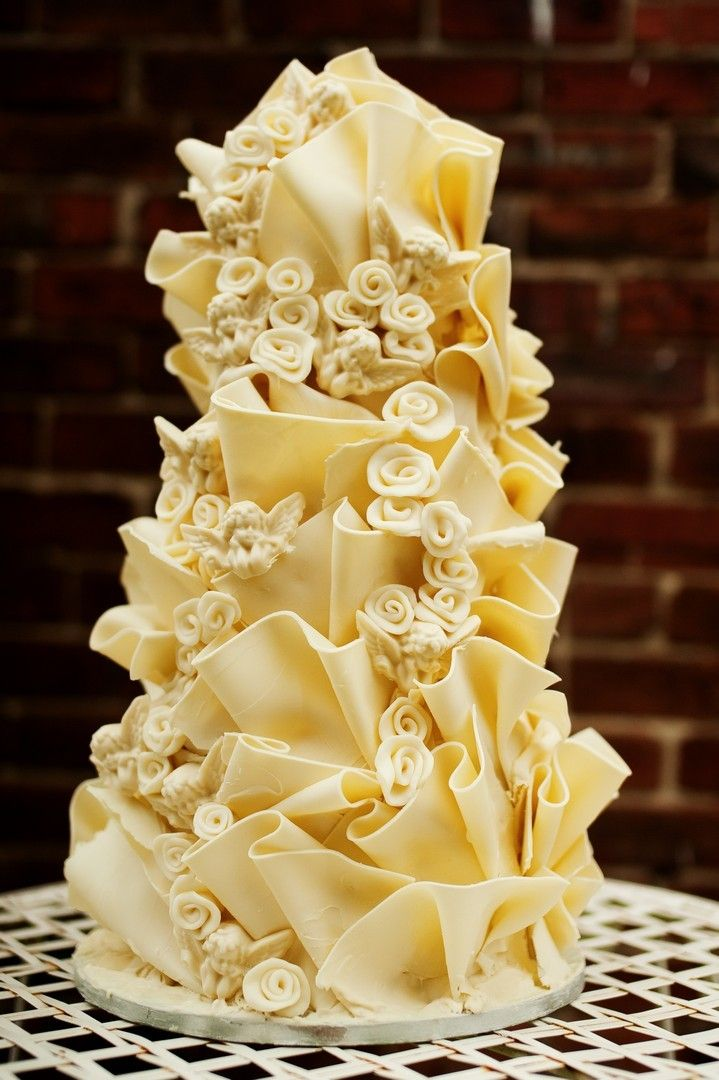 HALF PRICE Wedding Cake With Butterflies and Angels | Baking <3 ...