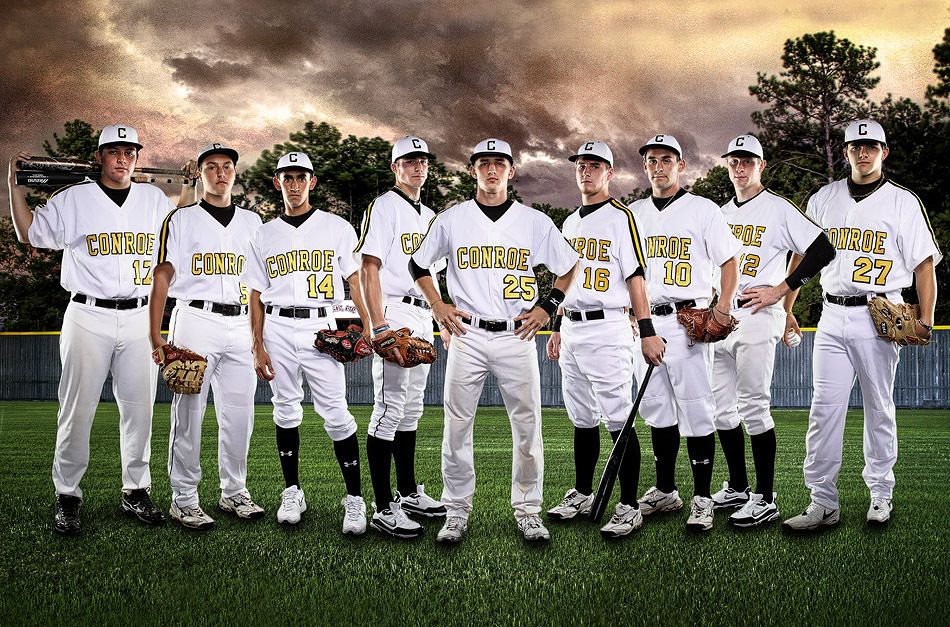 Shot The Players Individually In The Teachers Lounge At Their School And Then Composited Onto B Sports Team Photography Baseball Posters Baseball Team Pictures
