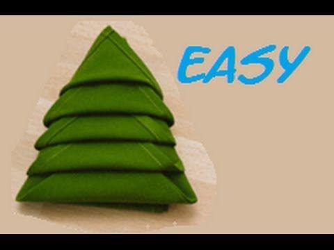 christmas tree napkins how to fold a napkin into a christmas tree napkin folding youtube