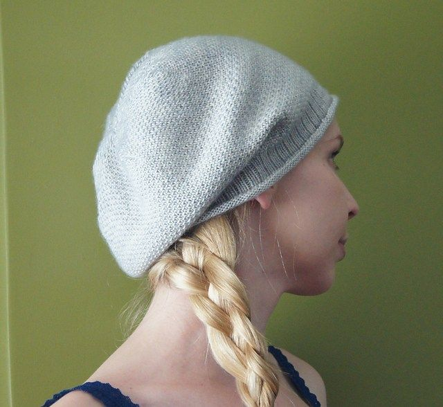 Slouchy Hat Knitting Patterns Slouchy Hat Linen Stitch And