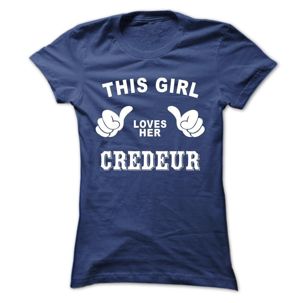 (Tshirt Deals) This girl loves her CREDEUR Discount 20% Hoodies Tees Shirts