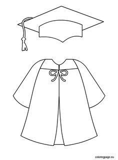 Graduation cap and gown template | Graduation crafts ...