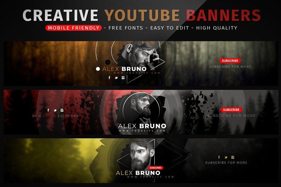 Creative Youtube Banners Youtube Banners Youtube Banner Design Youtube Channel Art