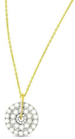 Frederic Sage 18k Firenze II Round Diamond Cluster Pendant Necklace OgU4sOSCK