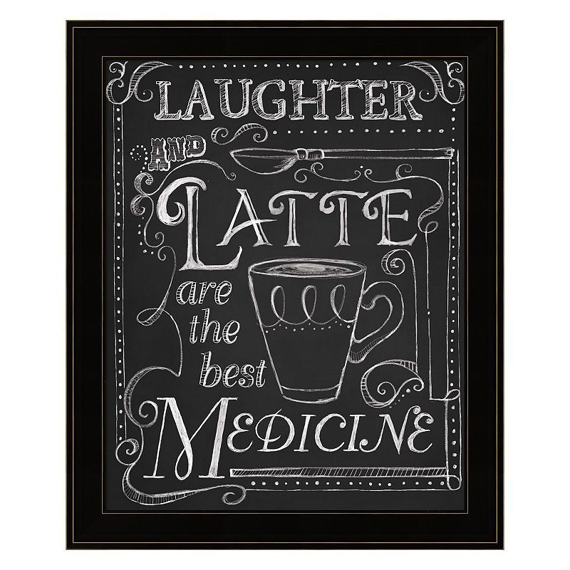 Laughter And Latte Framed Wall Art, Multicolor