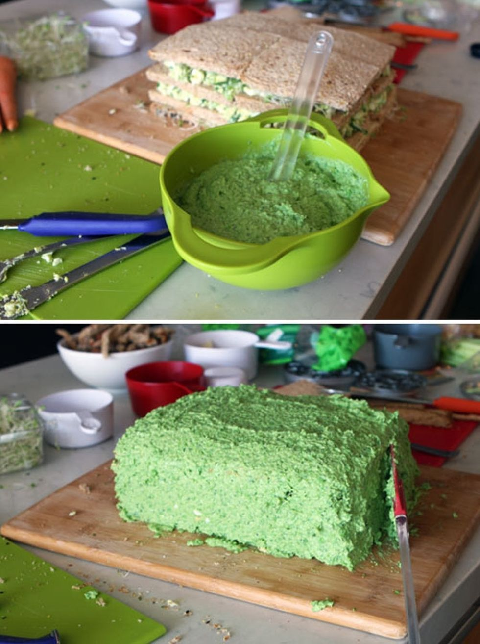 A Sandwich Cake Recipe for Dr. Seuss! #greeneggsandhamrecipe