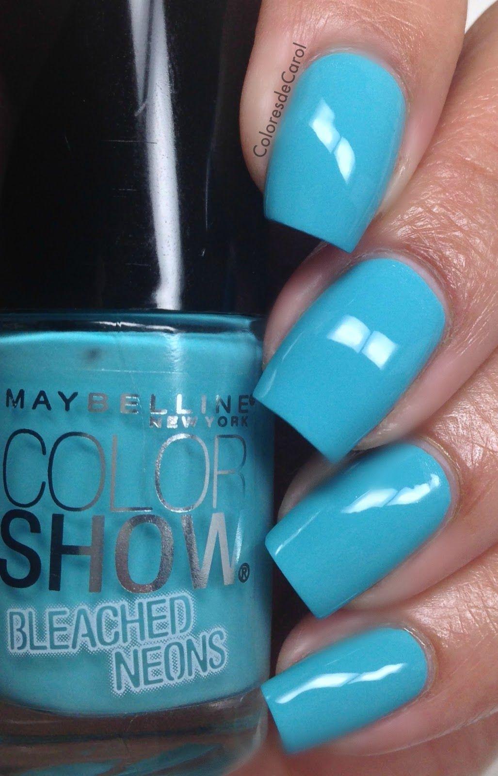 Colores de Carol: Maybelline Bleached Neons | Nails | Pinterest