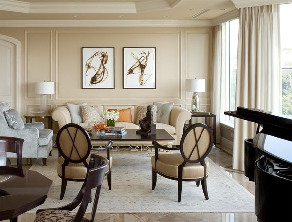 Beautiful elegant interior precious home decorating for American classic interior
