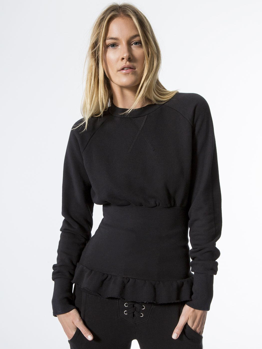 Indira sweatshirts in black by nsf from carbon fashion