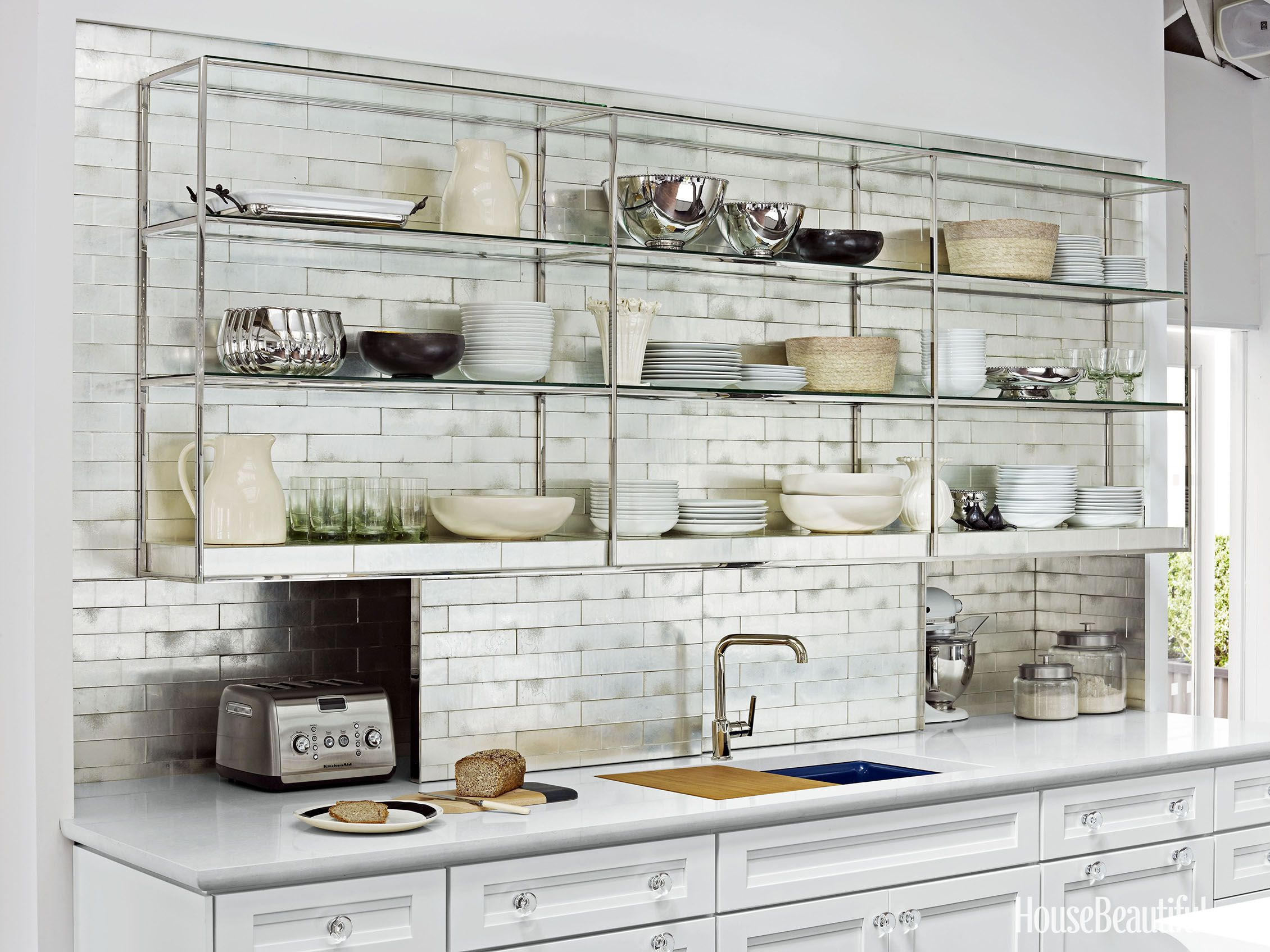 15 Kitchens That Will Convince You To Try Open Shelving Open Kitchen Shelves Metal Kitchen Shelves Kitchen Design Trends
