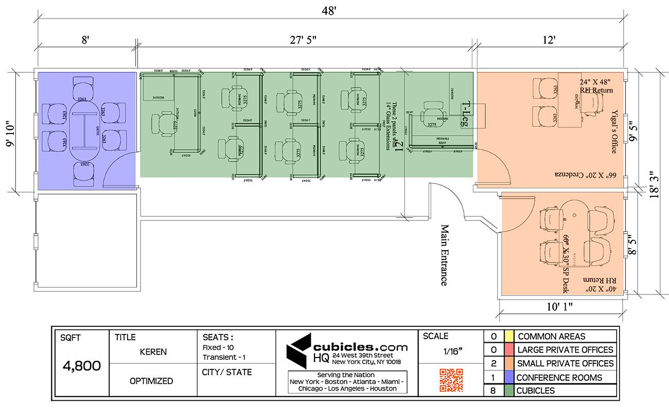 Office layout plan with 8 work cubicles officelayout for Office furniture layout planner