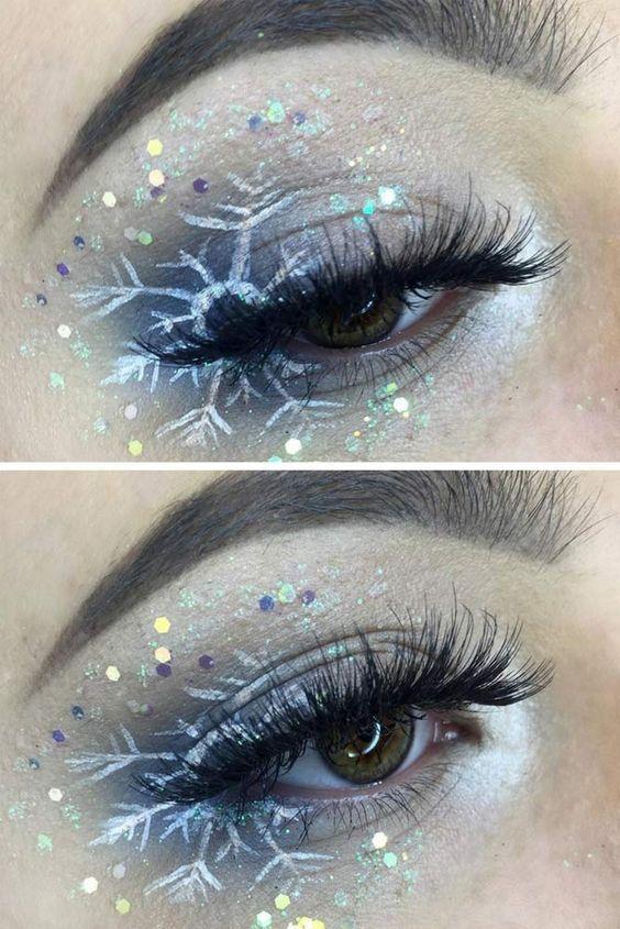 Weihnachtliche Make-up-Ideen für ein ungewöhnliches Weihnachtserlebnis - Diy Basteln #makeuplooks