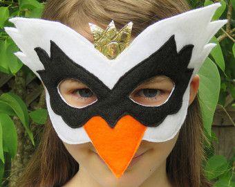 Felt Swan Mask Bird Mask Masquerade Swan Costume Mardi Gras Halloween