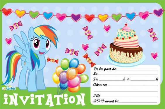 Invitation Anniversaire Fille Licorne