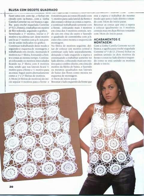 ◇◇◇ crochet | BLUZ | Pinterest | Crochet fácil y Círculos