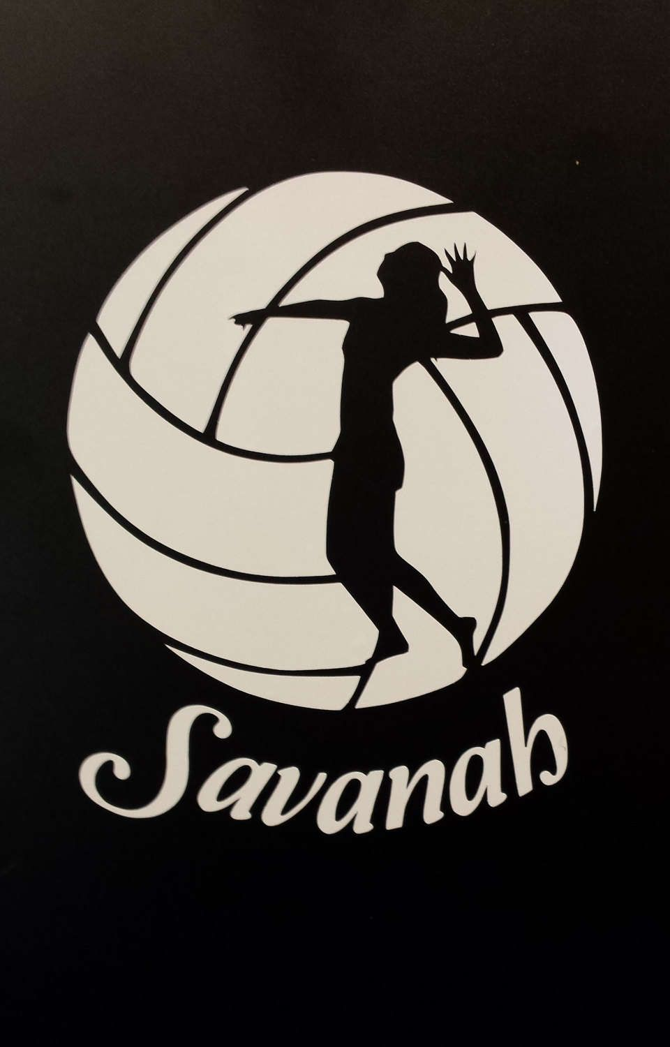Volleyball Decal Volleyball Sticker Personalized Volleyball Decal Sport Bag Decal Water Bottle Decal Window Decal Car Decal Laptop By Mnmadewreat Volejbol