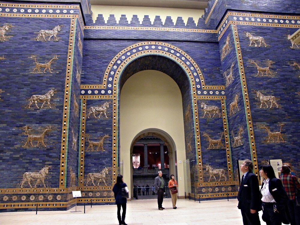 Porta di ishtar nuova babilonia ca 580 a c berlino - Porta di berlino ...