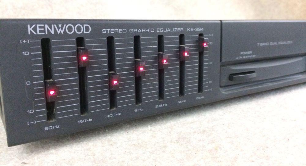 Kenwood Ke 294 Stereo Graphic Equalizer Eq Dual 7 Band Kenwood Equalizer Stereo