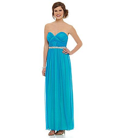 Jodi Kristopher Strapless TwoTone Gown #Dillards | Prom ideas ...