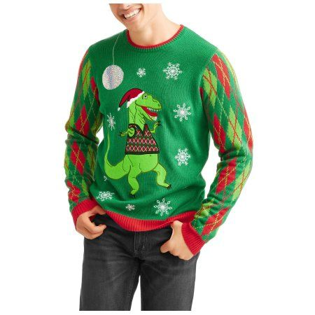 T Rex Ugly Christmas Sweater.T Rex Sweater Vest Men S Ugly Christmas Sweater Size
