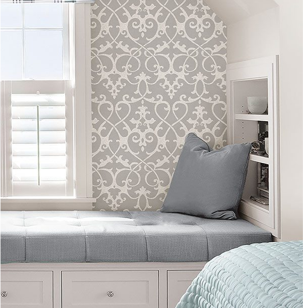 Ironwork Grey Peel And Stick Wallpaper In 2021 Nuwallpaper Home Decor Traditional Interior Design