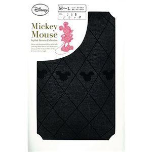 (まとめ買い)関東ナイロン ミッキー 横柄 ブラック M-L 1足組×8セット - 拡大画像