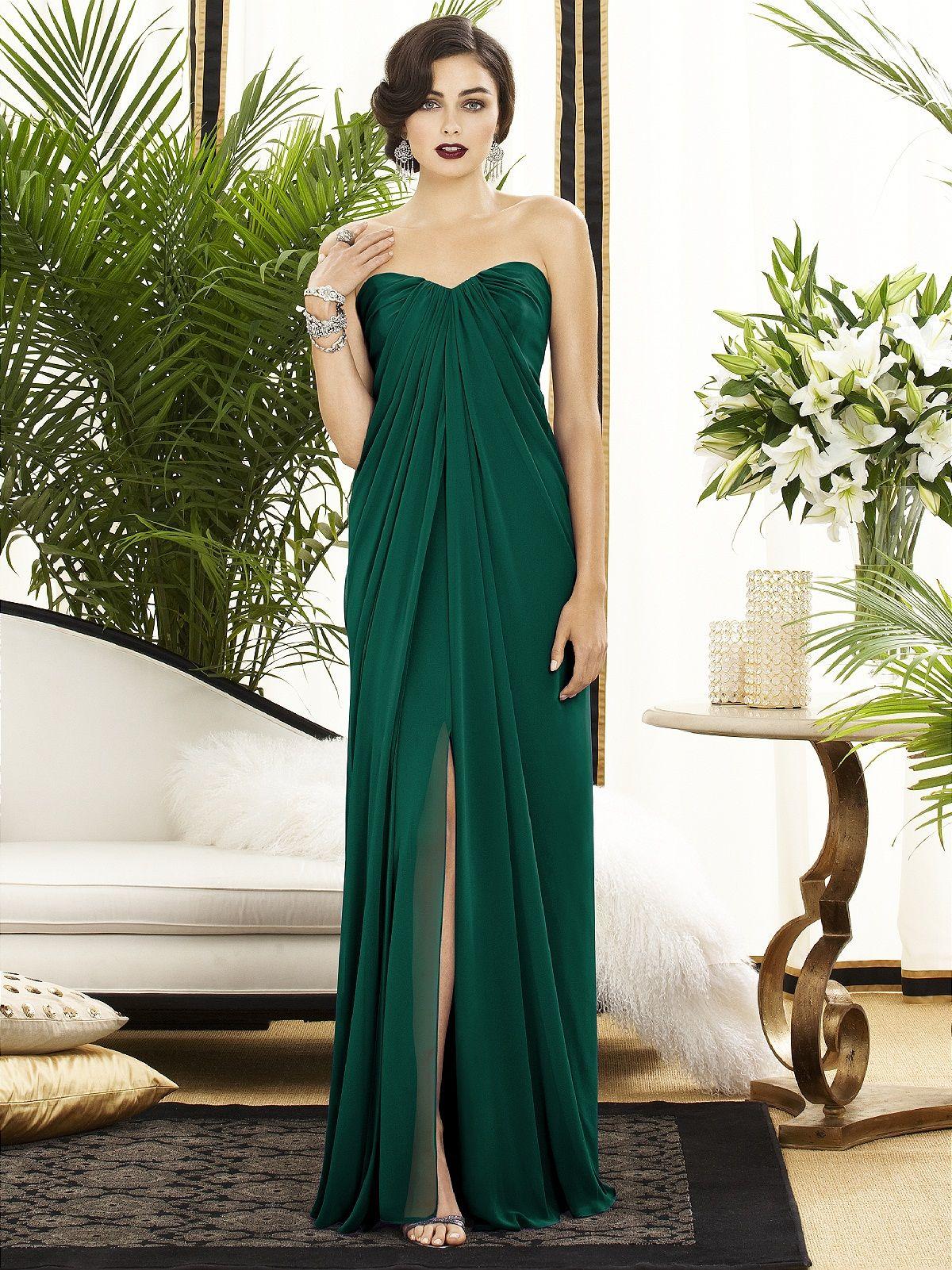Midi length satin bridesmaid dress satin dresses fashion dessy collection style 2879 green and gold dressemerald green wedding ombrellifo Choice Image