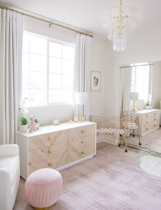 White & Blush Nursery by Little Crown Interiors. images